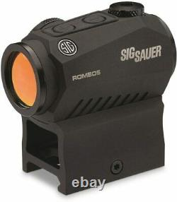 Sig Sauer SOR52001 Romeo5 1x20mm Compact 2 MOA Red Dot Sight (High & Low Mount)