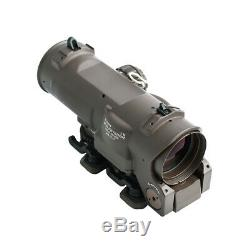 Tactical Rifle Scope 4x/1x-4x Fixed Dual Purpose Red illuminated Red Dot Sight