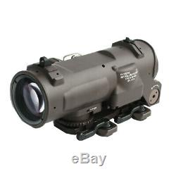 Tactical Riflescope 1x-4x Fixed Dual Optical Scope Red illuminated Red Dot Sight