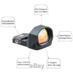 Vector Optics Frenzy Red Dot Pistol Sight Waterproof 1X20X28 with Mount