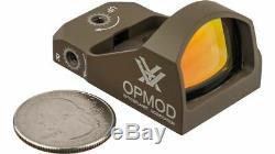 Vortex OPMOD Viper 1x24mm 6 MOA Red Dot Sight, FDE VRD-6-OP-KIT3