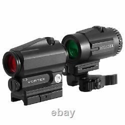 Vortex SPARC Optic Gen II Sight Red Dot Magnifier 3x Airsoft Set Case