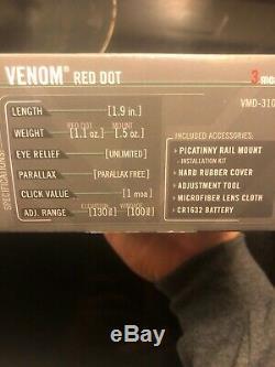 Vortex VMD-3106 with Red Dot Sight Black