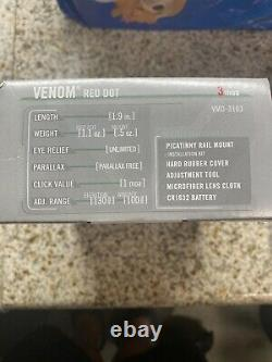 Vortex Venom Red Dot Sight 3 MOA Dot and mounting plate